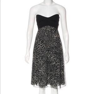 DVF Silk 'Asti' Dress - Leopard Print - Size 6 EUC